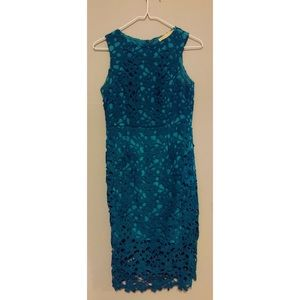 Lace holiday dress from Anthropologie
